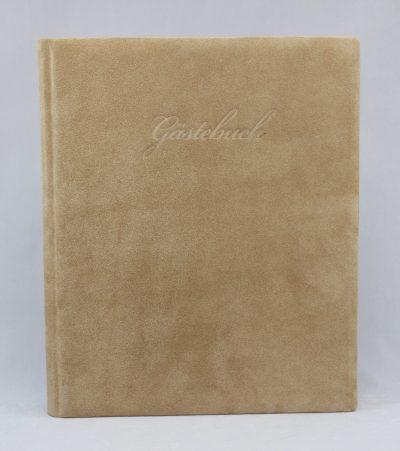 Guestbook Vesuv Lattemacchiato Suede