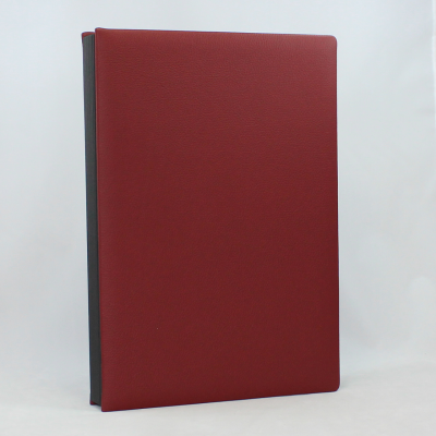 Signature Folder made of Smooth Full Grain Leather in Burgundy - Vera Donna