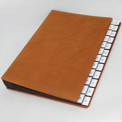 Alphabethical desk folder with nubuk leather cover