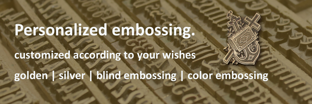 Customized embossing for your individual guestbook