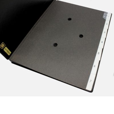 Weekly desk folder with black grained leather cover