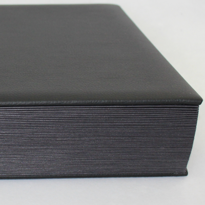Desk Folder with Index-1-31 plus 1-12 made of Grained Full Cowhide in Black - Vera Donna