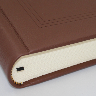 Guestbook - Grained Leather Brown