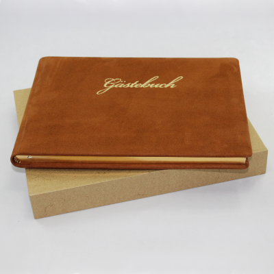 Guestbook Nubuk Leather Landscape