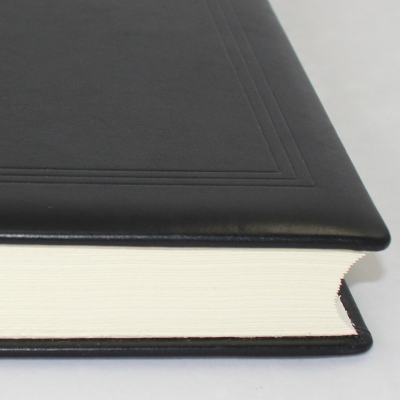 guestbook thick - smooth leather black
