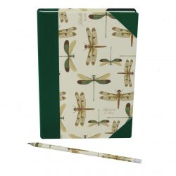 Notebook Libellule in Green Half Leather