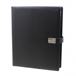 Black leather Ring Binder - Vera Donna