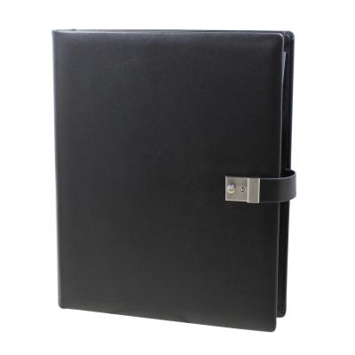Black leather Ring Binder - Vera Donna