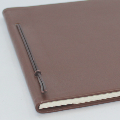 Business Folder DIN A4 made of Brown Cowhide Leather - Vera Donna