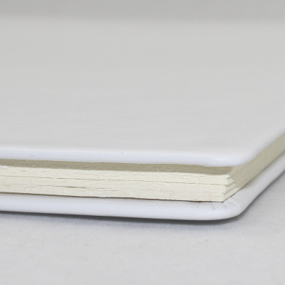 Business Folder DIN A4 made of White Cowhide Leather - Vera Donna