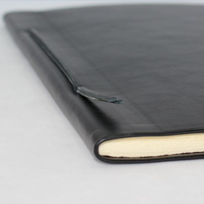 Business Folder full Cowhide in Black