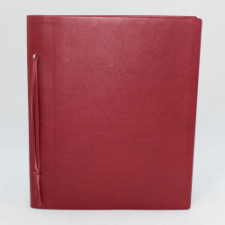 Business Folder full Cowhide in Burgundy - Vera Donna