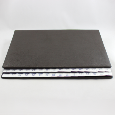 Daily Desk File Sorter made of Buffalo Leather