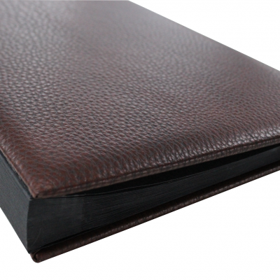 Daily Desk File Sorter made of Shrink Leather Rustico