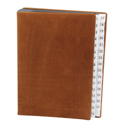 Daily Desk Folder with Nappa Leather - Vera Donna