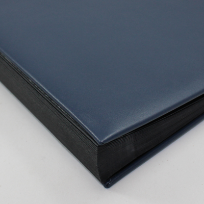 Daily Desk File Sorter with Blue Smooth Full Cowhide Cover