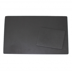Desk Pad Buffalo Leather Black