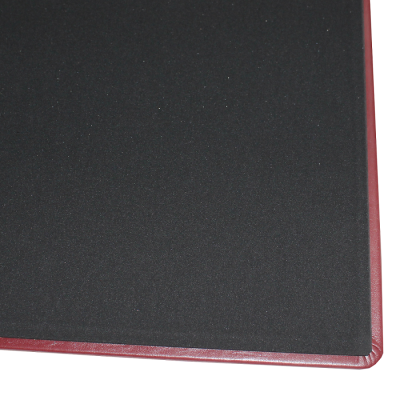 Leather Desk Pad with Matching Mousepad in Burgundy