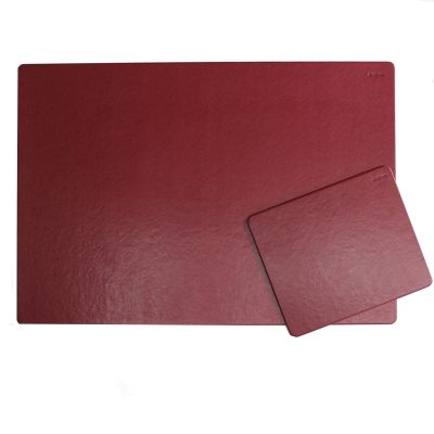 Desk Pad Memory with Matching Mousepad in Burgundy