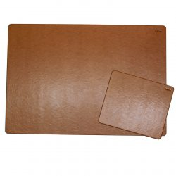 Desk Pad Memory with Matching Mousepad in Cognac