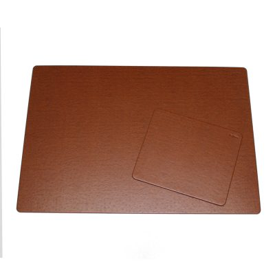 Desk Pad Ostrich with Matching Mousepad in Brown