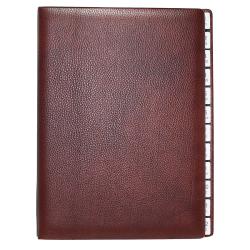 Monthly Desk File Sorter made of Shrink Leather Rustico
