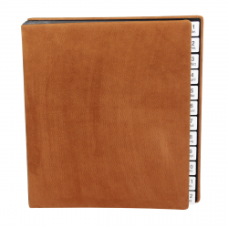 Monthly Desk Folder with Nubuk Leather