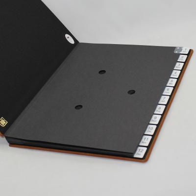 Monthly Desk Folder with Nubuk Leather