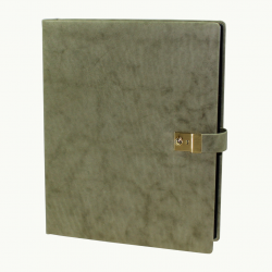 Ring Binder Nappa Leather Sauvage - Vera Donna