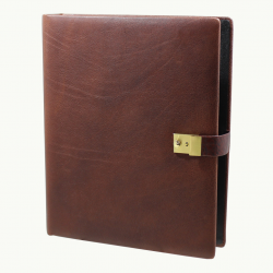 Ring Binder Shrunken Leather Rustico - Vera Donna