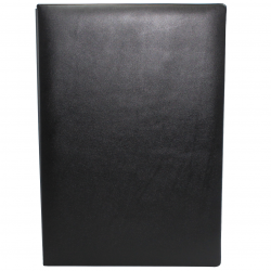 Signature Folder made of Smooth Full Grain Leather in Black - Vera Donna