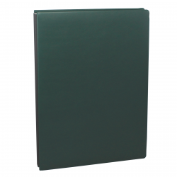 Signature Folder made of Smooth Full Grain Leather in Green - Vera Donna
