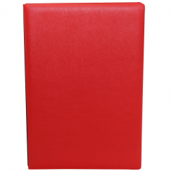 Signature Folder made of Smooth Full Grain Leather in Red - Vera Donna