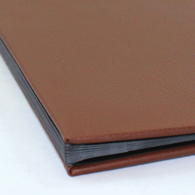 Weekly Desk File Sorter with Brown Grained Leather Cover