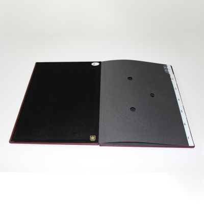 Weekly Desk File Sorter with Wine Red Smooth Full Cowhide Cover