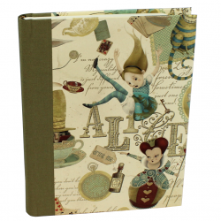 Notebook Alice with Green Bookbinding Linen