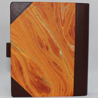 Diary with Marble Effect in Half Leather