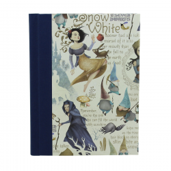 Notebook Snow White with Bookbing Linen