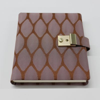 Diary Moire in Brown with a lock